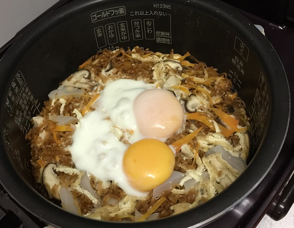 『チキンラーめし』ちょい足し簡単レシピ!炊飯器ver.【おこげがめっちゃ美味しい!】.jpg