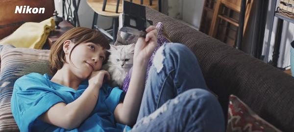 【動画】本田翼と猫がめっちゃ可愛い!ニコン「SnapBridge」スペシャルムービー公開!12.png