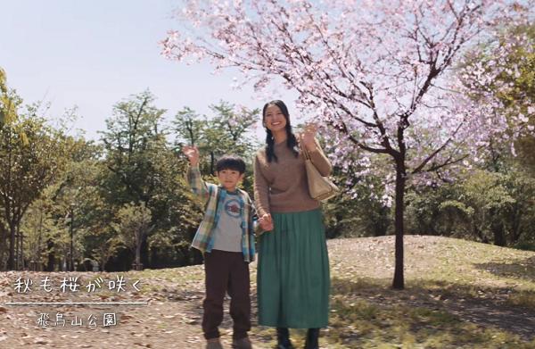 秋も桜が咲く飛鳥山公園で石原さとみが東京メトロCMのロケ!.png