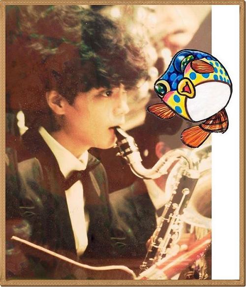 高校時代バスクラリネットを演奏するイケメンさかなクン.png